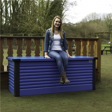 Trimetals LARGE PATIO STORAGE BOX BLUE
